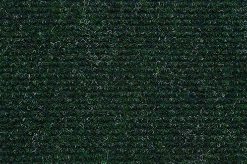 Dark Green Hard wearing ribbed exhibition carpet