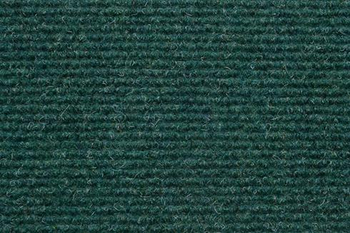Green Hard wearing ribbed exhibition carpet