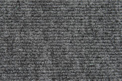 Grey Hard wearing ribbed exhibition carpet