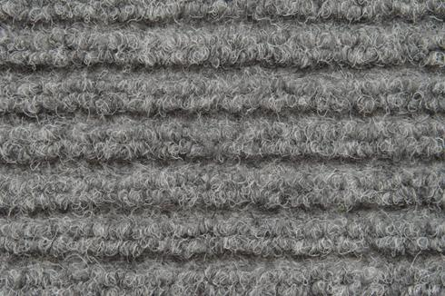 Grey Hard wearing jumbo ribbed carpet