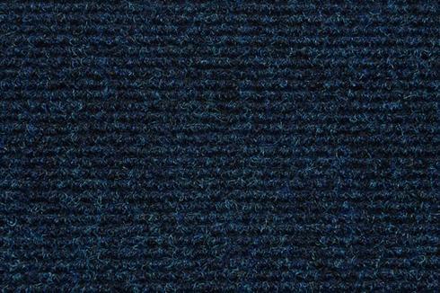 Navy Hard wearing ribbed exhibition carpet