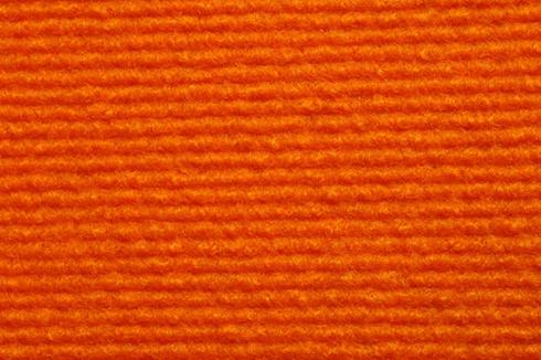 Orange Foam Back exhibition Carpet