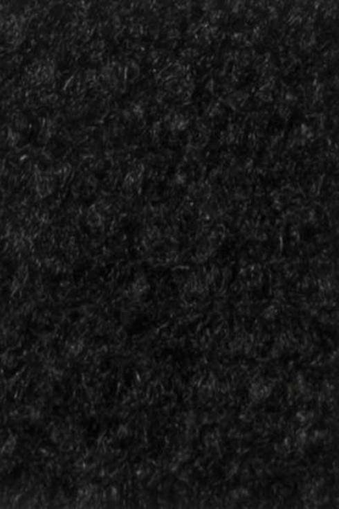 Black exhibition cord carpet