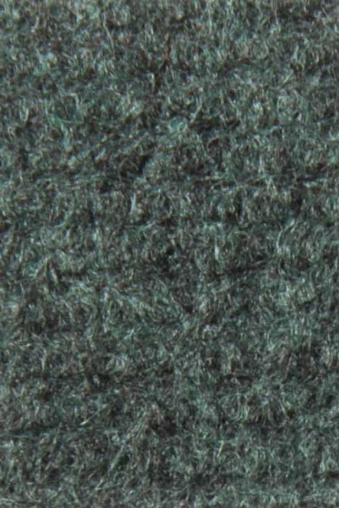 Dark green exhibition cord carpet