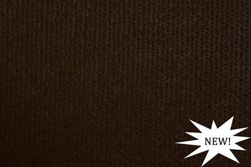 Dark brown exhibition cord carpet
