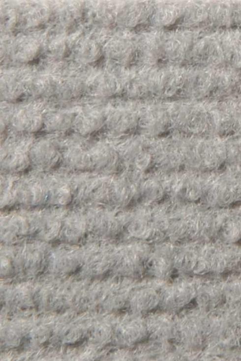 Silver exhibition cord carpet