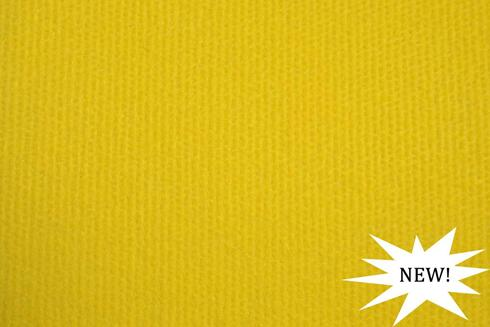 Yellow exhibition cord carpet