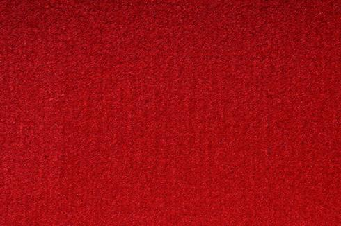 Ruby Red Plush Luxury Velour exhibition Carpet