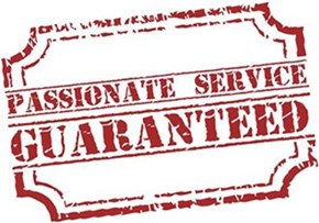 Passionate Service Guaranteed stamp