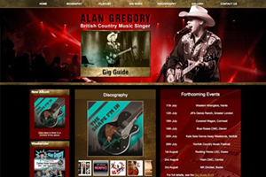 Alan Gregory - Singer website design by Toolkit Websites, Southampton