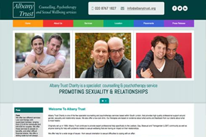 Albany Trust - Counselling website design by Toolkit Websites, Southampton