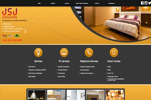 JSJ - Electrical contractor website design by Toolkit Websites, Southampton