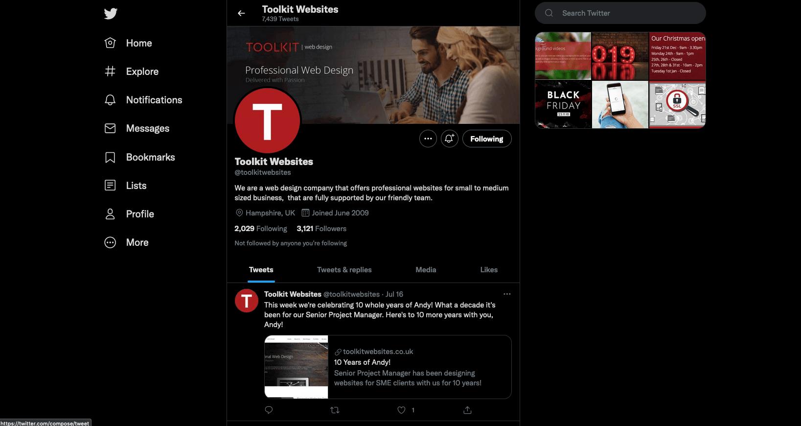 Toolkit Twitter