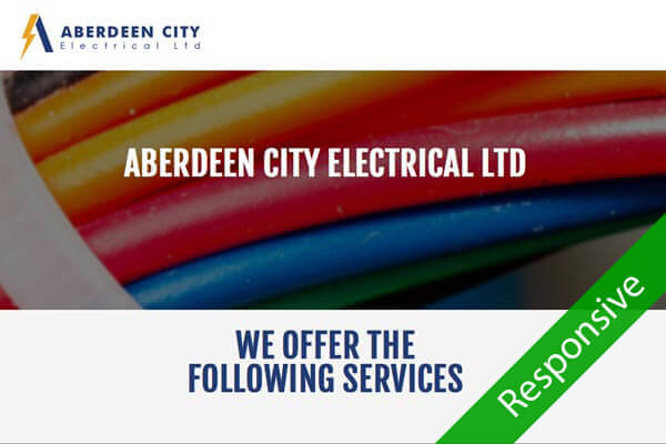 Aberdeen Electrical - Electricians web design by Toolkit Websites, Southampton