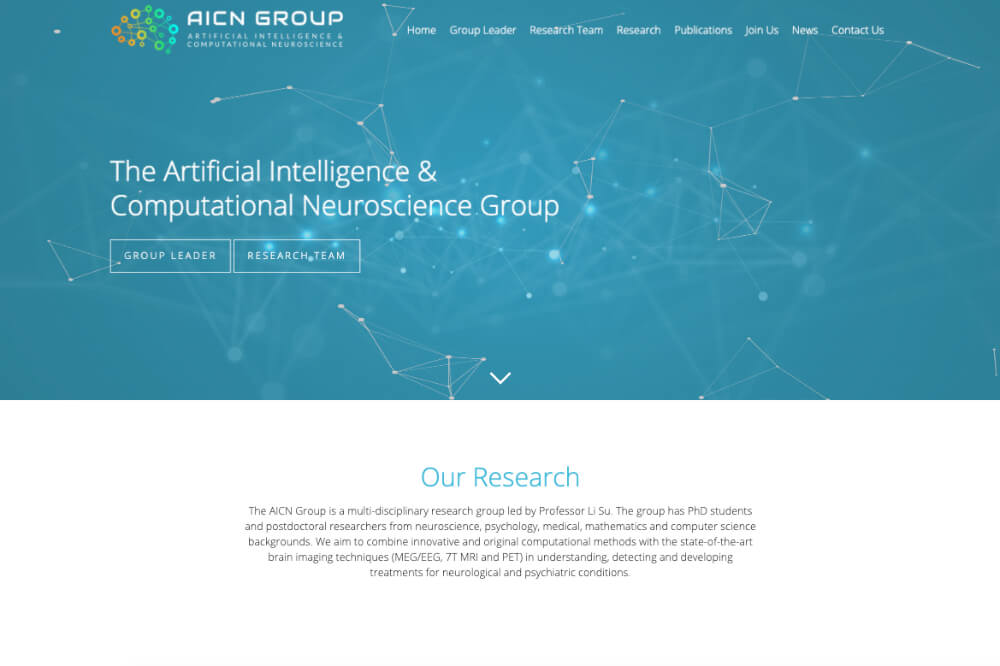AICN - research and intelligence web design by Toolkit Websites, business website designers