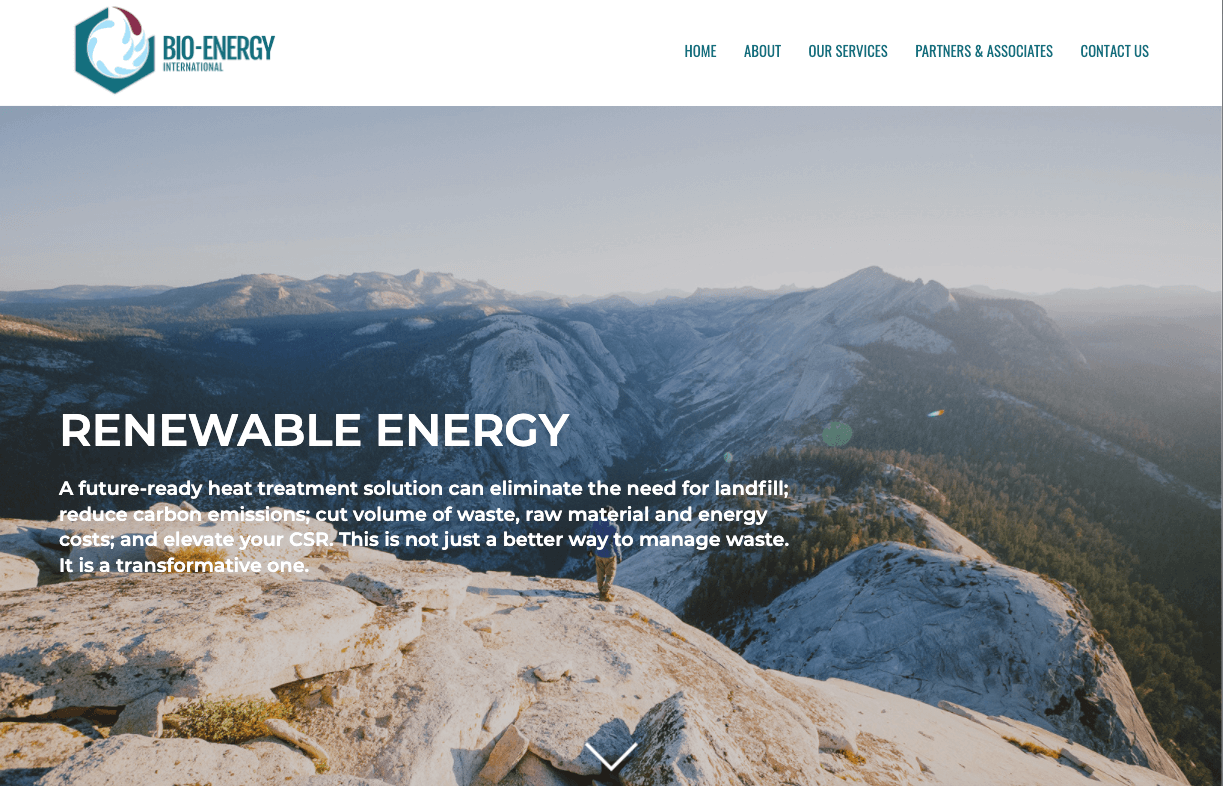 Bio Energy - Renewable Energy company web design by Toolkit Websites, expert website designers
