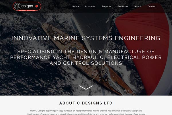 C Designs Ltd - Marine website design by Toolkit Websites, professional website designers