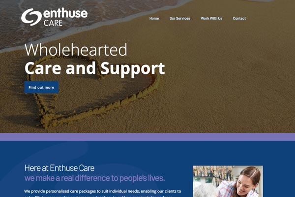 Enthuse Care - Care web design by Toolkit Websites, expert website designers