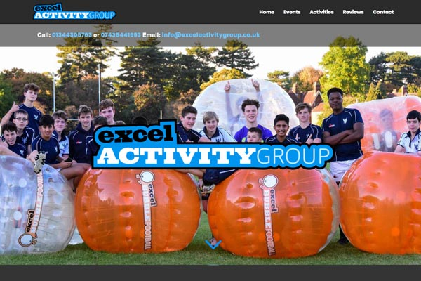 Excel Activity Group - CMS website design by Toolkit Websites, professional website designers