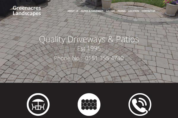 Greenacres Landscapes - Landscaping web design by Toolkit Websites, business website designers
