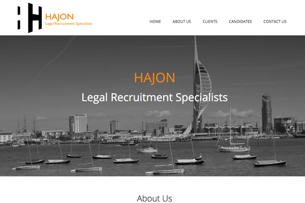Hajon - recruitment website designed by Toolkit Websites, Southampton