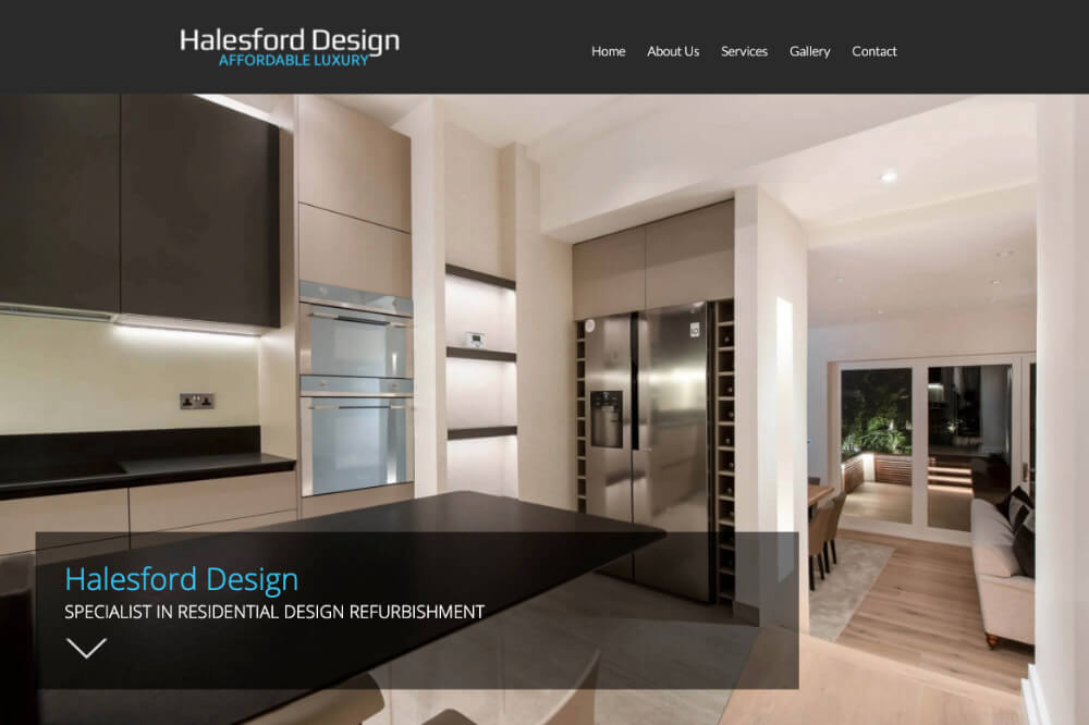 Halesford Design - Home Improvements web design by Toolkit Websites, business website designers