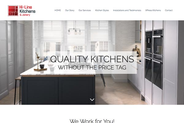 Hi-line Kitchens & Joinery - web design by Toolkit Websites, expert website designers