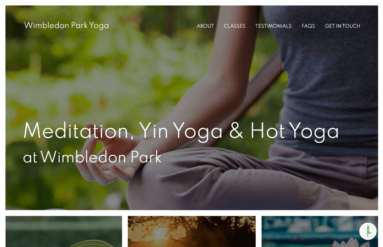 Hot Yoga Wimbledon - Yoga website design by Toolkit Websites, expert website designers