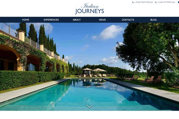 Italian Journeys - website design by Toolkit Websites, Southampton
