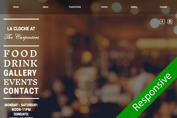 La Cloche Pub - website designed by Toolkit Websites, Southampton