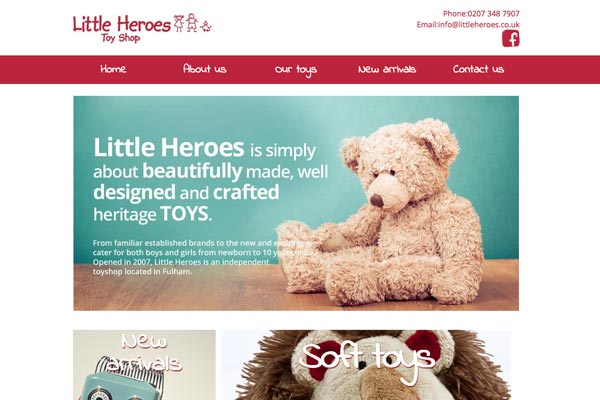 Little Heroes Fulham - website design by Toolkit Websites, Southampton