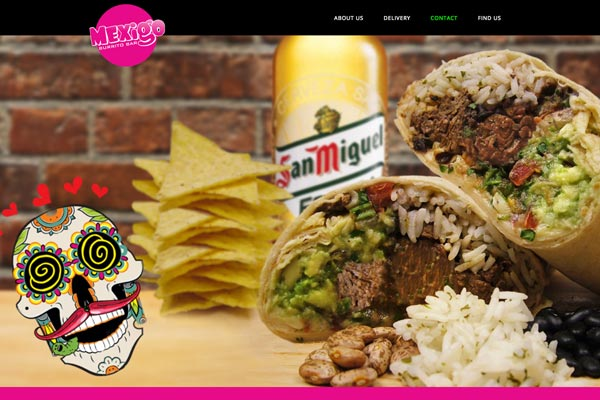 Mexigo - Fast food website designed by Toolkit Websites, business website designers