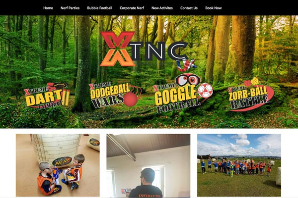 Xtreme Nerf Combat - CMS web design by Toolkit Websites, Southampton