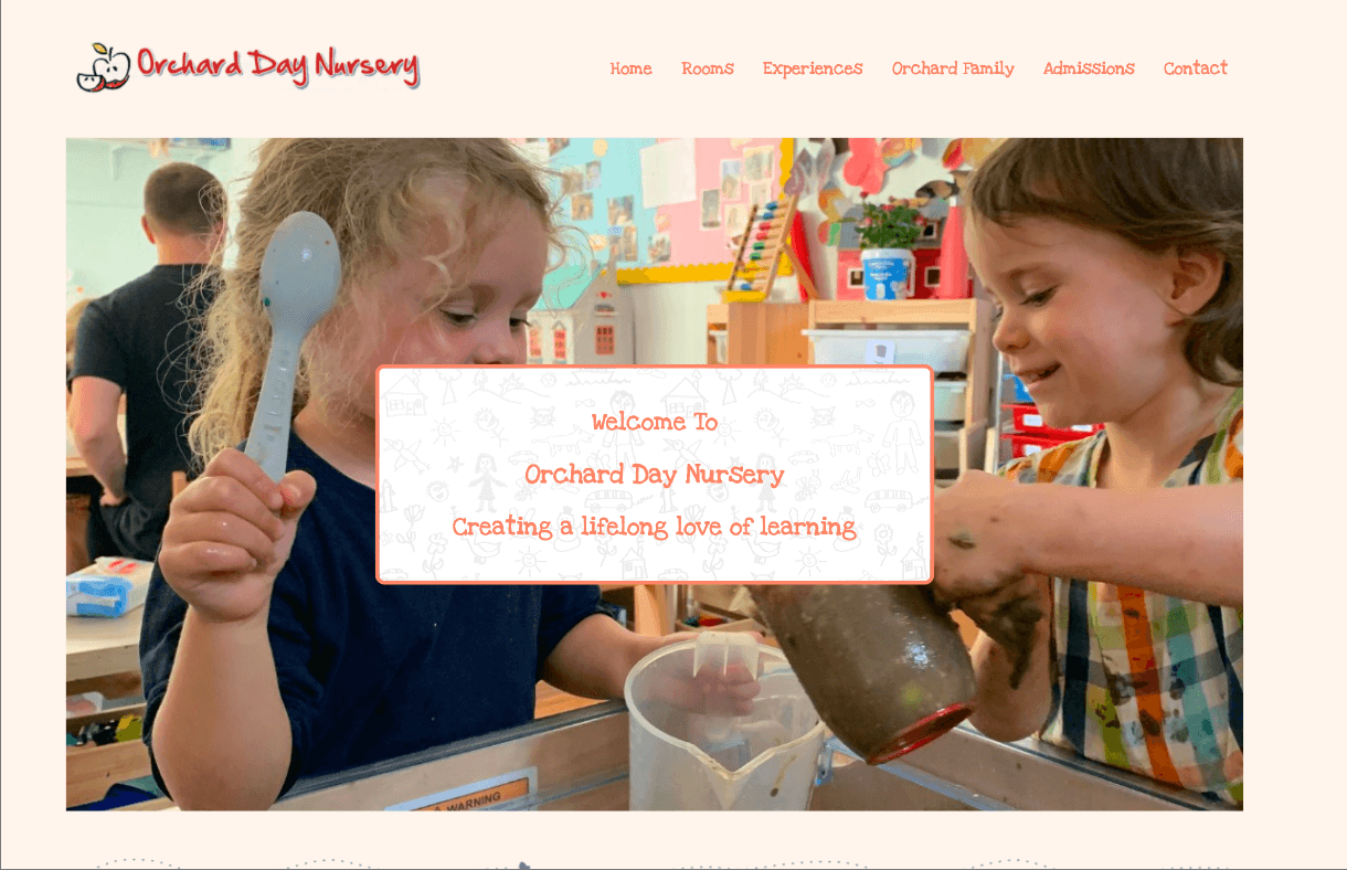 Orchard Day - Nursery website design by Toolkit Websites, business website designers