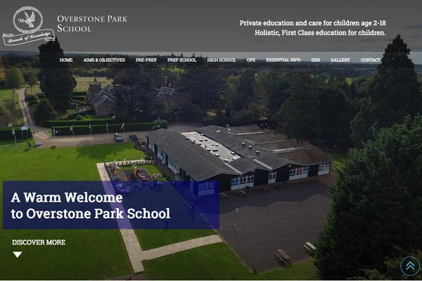 Overstone Park School - school website design by Toolkit Websites, business website designers