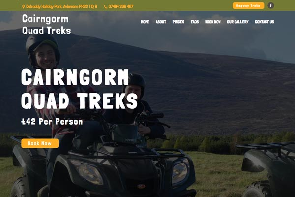 Cairngorm Quad Treks - web design by Toolkit Websites, expert website designers