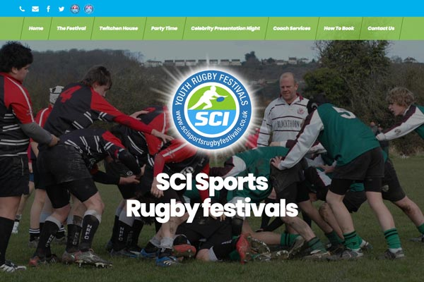 SCI Sports Rugby Festivals - sports web design by Toolkit Websites, business website designers