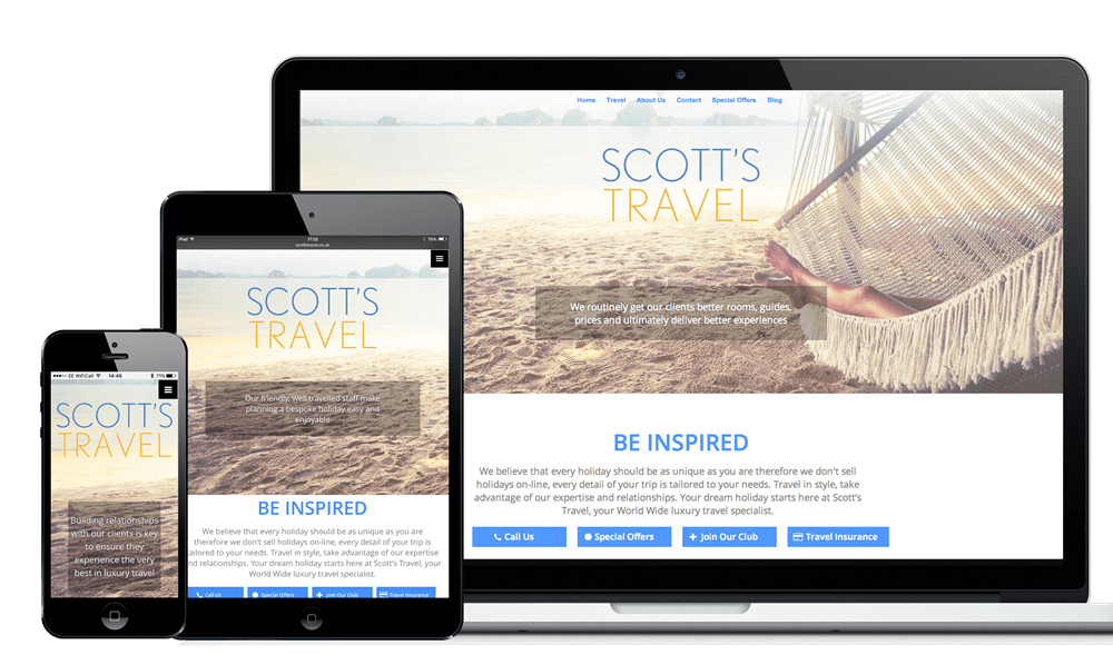 Bespoke web design examples from our website designers in Southampton