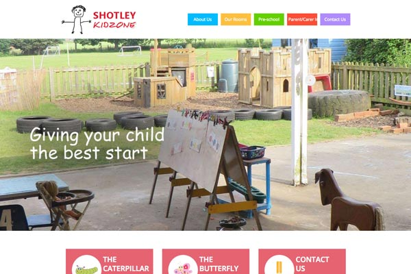 Shotley Kidzone - Nursery website design by Toolkit Websites, business website designers