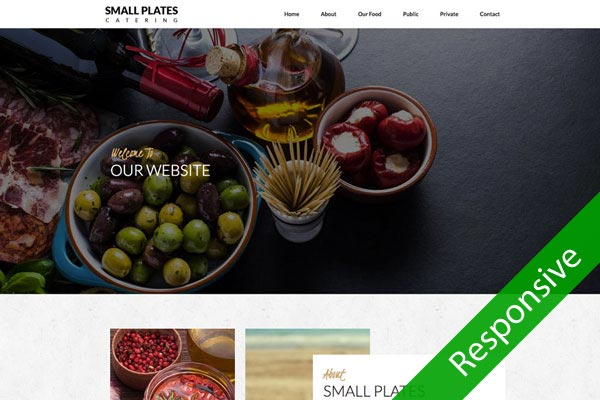 Small Plates - Catering website design by Toolkit Websites, Southampton