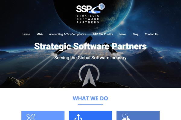 Strategic Software Partners Ltd - IT brochure-style website design by Toolkit Websites, Southampton