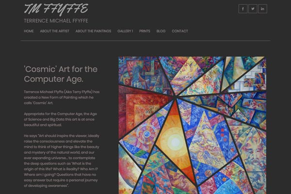Terrence Michael Ffyffe - artist web design by Toolkit Websites, expert website designers