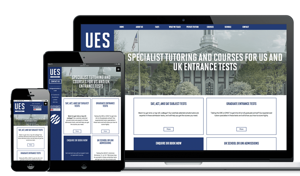 Professional examples of our websites from our expert designers in Hampshire