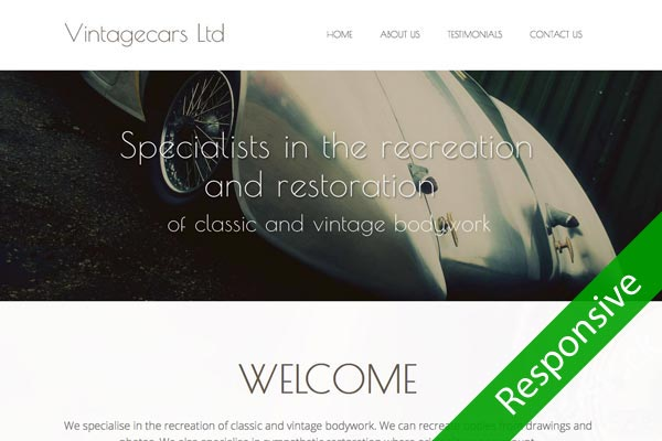 Vintagecars Ltd - Automotive web design by Toolkit Websites, Southampton