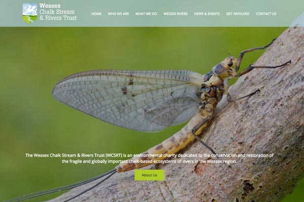The Wessex Chalk Stream & Rivers Trust - charity website design by Toolkit Websites, business website designers