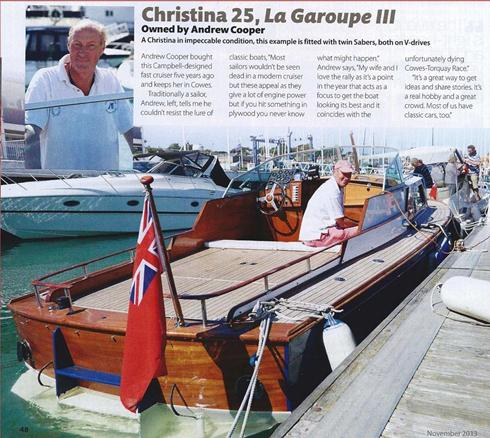 Christina 25 restored by David Heritage Racing Yachts
