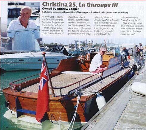 Christina 25 restored by David Heritage Racing Yachts