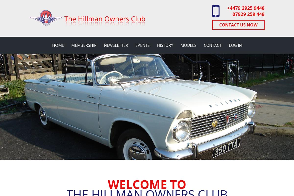 History Of The Hillman Motor Co Hillman Owners Club