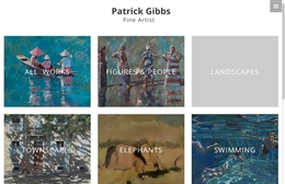 Patrick Gibbs - Artist website design by Toolkit Websites, Southampton