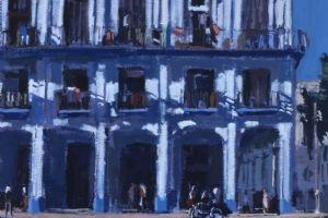 Street Scene 4, Havana - acrylic on paper - 30 x 36 cm - sold